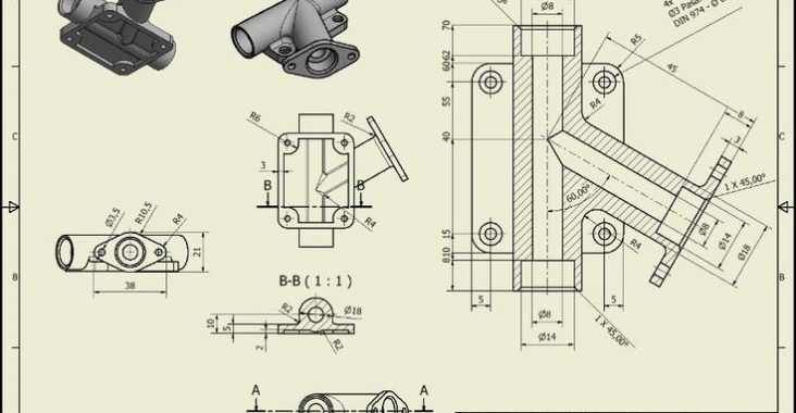 28-A brief study about Technical and Industrial drawings and designs